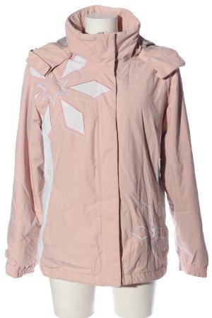 stuf Winterjacke pink-weiß Casual-Look