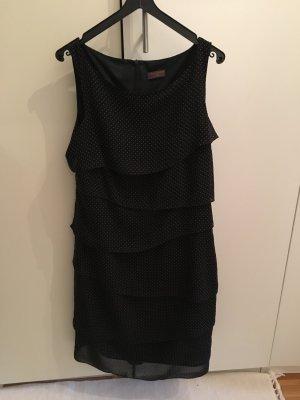 s.Oliver Flounce Dress black-light brown