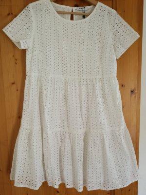 Stufenkleid Sommerkleid Lochmuster XS (34/36)