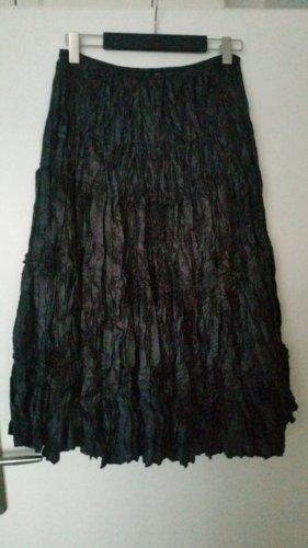 Jennifer Taylor Broomstick Skirt dark brown polyester