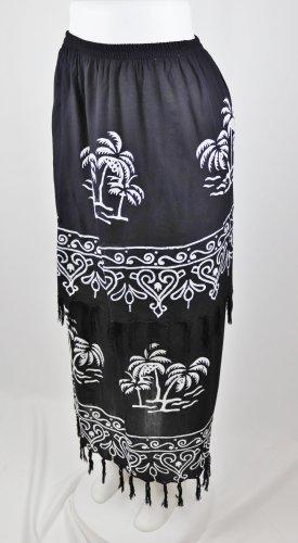 Broomstick Skirt black-white