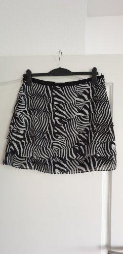 Stufenrock mit Zebra-Muster