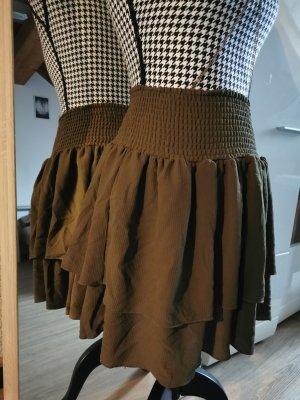 Vero Moda Broomstick Skirt khaki