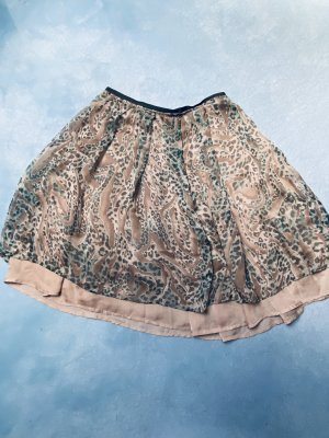Yaya Broomstick Skirt light brown-green grey