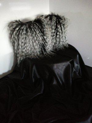 Puño negro-color plata