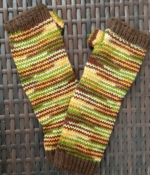 markenlos Knitted Gloves multicolored wool