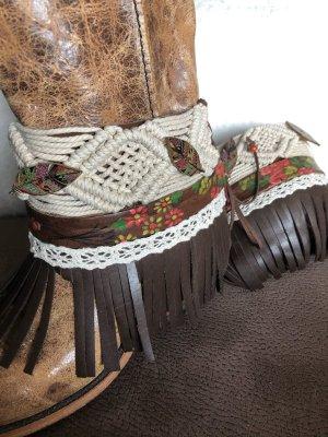 Stulpen für Stiefel Boots Gamaschen Stiefelschmuck Boho Ethno