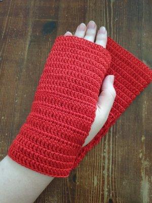 Handarbeit Guantes sin dedos rojo