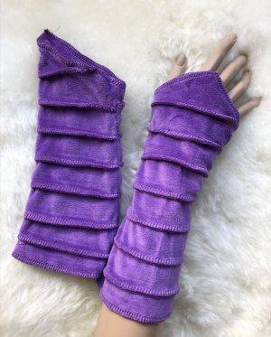 handmade Manchetten blauw-paars Fluweel