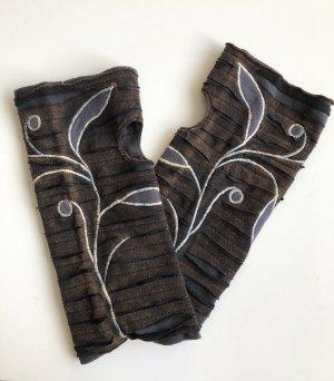 Handmade Manchetten grijs-zwart bruin Katoen