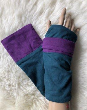 Handmade Scaldamuscoli petrolio-blu-viola Cotone