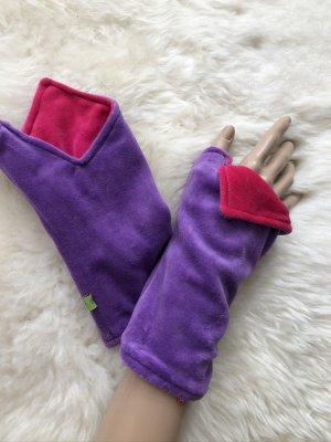 handmade Manchetten blauw-paars-violet Fluweel