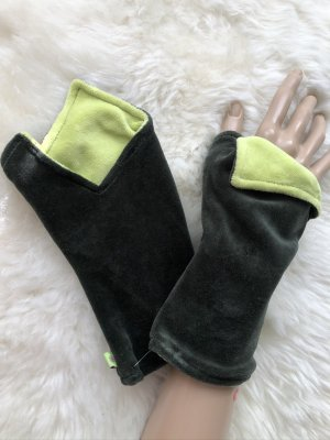 Handmade Scaldamuscoli verde scuro-verde pallido Velluto