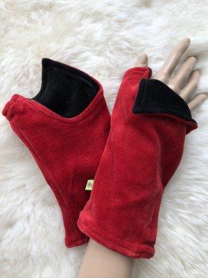 Handmade Scaldamuscoli rosso scuro-nero Velluto