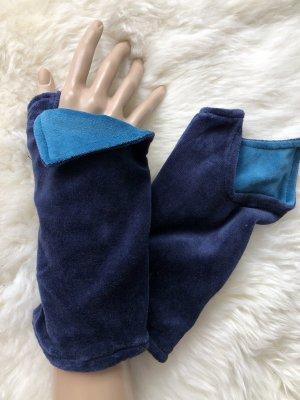 Handmade Scaldamuscoli blu scuro-blu neon Velluto