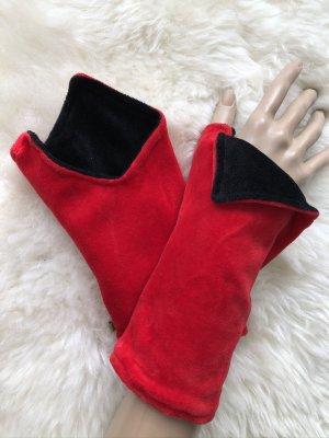 Handmade Scaldamuscoli nero-rosso mattone Velluto
