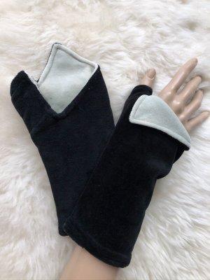 Handmade Scaldamuscoli nero-grigio chiaro Velluto