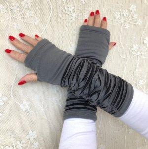 Ohne Jambière noir-gris coton