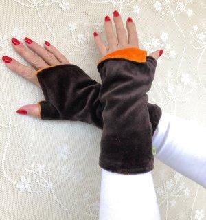 Scaldamuscoli marrone scuro-arancione scuro