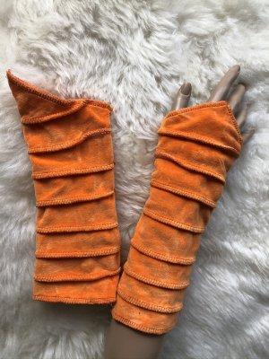Handmade Scaldamuscoli arancione Velluto