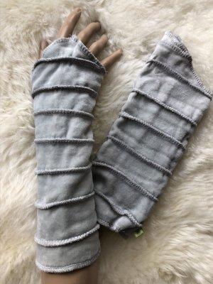 Handmade Scaldamuscoli argento-grigio chiaro Velluto