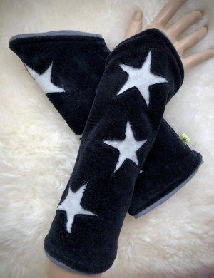 Handmade Puño negro-gris claro Terciopelo
