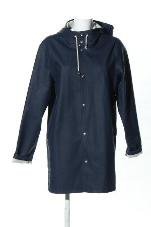 Raincoat blue casual look