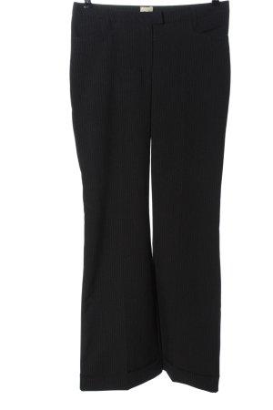 Style Pantalon de costume noir motif rayé style décontracté