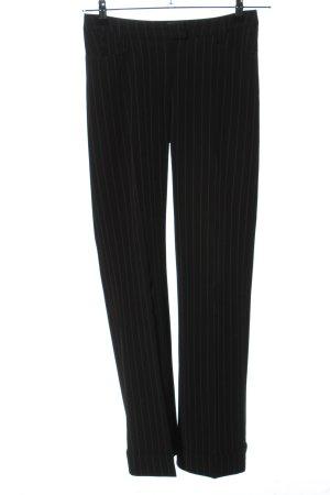 Style Spodnie garniturowe czarny-biały Na całej powierzchni W stylu biznesowym