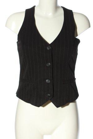 Style Anzugweste schwarz-wollweiß Allover-Druck Casual-Look