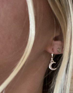 Pendant d'oreille argenté