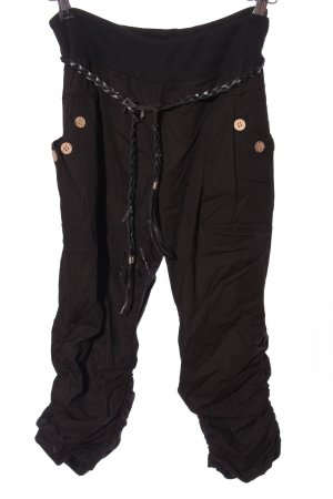 Style boom Pantalone a 3/4 nero stile casual
