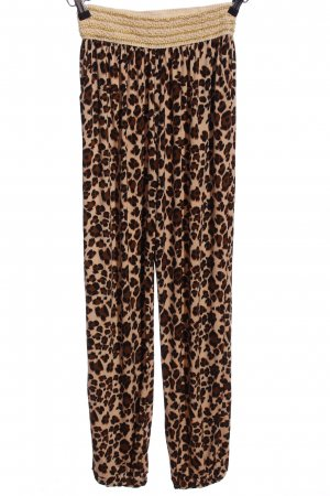 Style boom Baggy Pants brown-nude allover print casual look