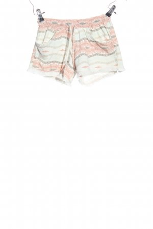 Style boom Hot Pants weiß-nude Allover-Druck Casual-Look