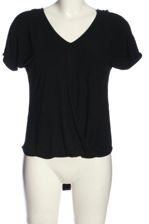 Style boom Kurzarm-Bluse schwarz Casual-Look