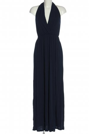 Style boom Robe dos-nu bleu élégant
