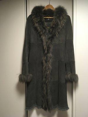 Style & Butler Futrzany płaszcz szary-szary niebieski Futro