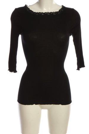 Style & Butler Zijden blouse zwart casual uitstraling