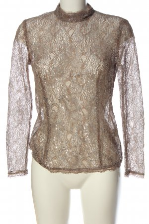Style & Butler Lace Blouse natural white graphic pattern wet-look