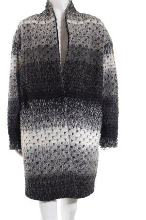 Style & Butler Wollmantel Streifenmuster Casual-Look