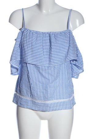 style envy Carmen Blouse blue-white striped pattern casual look