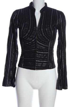 Style Koszulowa bluzka czarny-biały Elegancki