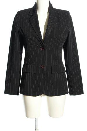 Style Jerseyblazer schwarz Streifenmuster Business-Look