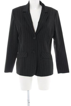 Style Kurz-Blazer schwarz-hellgrau Streifenmuster Business-Look