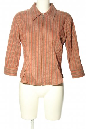 Style Camisa de manga corta naranja claro-marrón elegante
