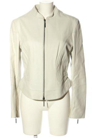 Style Veste en cuir blanc cassé style décontracté