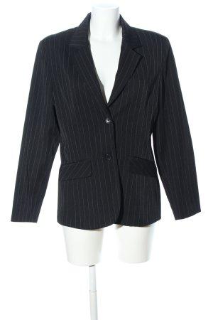 Style Long-Blazer schwarz-hellgrau Streifenmuster Business-Look