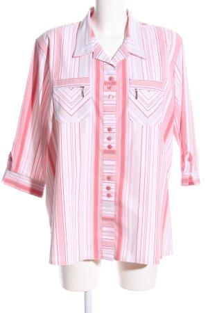 Style Mode Kurzarm-Bluse Streifenmuster Casual-Look