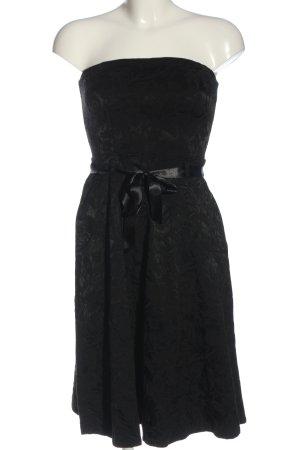 Style schulterfreies Kleid schwarz Elegant