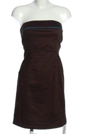Style schulterfreies Kleid braun Casual-Look